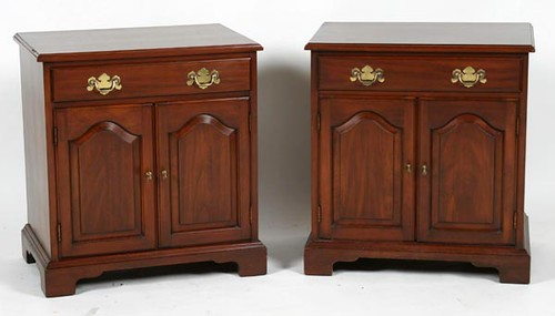 Pair of Wild Black Cherry Bedside Cabinets ($616.00)