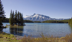 Two Jack Lake (LunaticDesire) Tags: canada canadian ca northamerica north america western westerncanada therockymountains rockymountains rocky mountains moosetravel travel traveling exterior photography nikon d40 dslr 18105 may 2016 spring twojacklake two jack lake alberta ab banff mountrundle mount rundle water waterscape landscape beauty nature wild wilderness