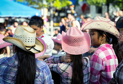 straw hats (paulh192) Tags: people girl hat cowboyhat strawhat dancers performers grandrapids michigan leica fiesta mexicana