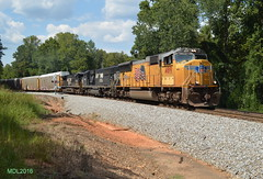 UP 4819 leads NS Train M72 in Waco, GA (RedneckRailfan610) Tags: ns up up4819 norfolk southern union pacific m72 mixed freight waco georgia god ge ga emd sd70m sd60e d940c alabama division birmingham east end district railroad trains