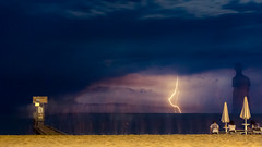 Thunderstorm at the beach (Frank Lammel) Tags: 2016 beach gewitter italien lidodijesolo nightscape strand urlaub thunder weather italy dark