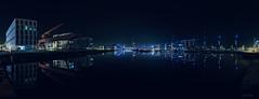 Bluecity (PixTuner) Tags: long time exposur lzb night light lights blue blau nacht pixtuner wasser water bremerhaven germany licht schwarz black klimahaus sail city spiegelung mirroring mirror sehr schner shop