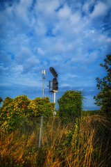 A Signal (@bill_11) Tags: railway signal sky minster kent uk england fence junction stop go