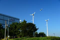 (Torasan Photography) Tags: aircraftmanuevers airport aviation daytime hnd haneda japan kanagawa kawasaki outdoor place rjtt structure takeoff time tokyointernationalairport transportation windmill       jp