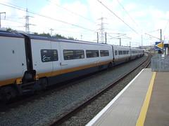 Eurostar Train 9I33 waits to set off from Ebbsfleet after completing its set down stop. (DesiroDan) Tags: highspeed1 ebbsfleetinternationalstation eurostar eurostarclass373 class373eurostar uktrains ukelectricunits highspeedtrainsintheuk britishrailclass373 eurostare300 tgvtmst