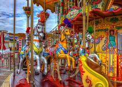 Merry Go Round Wildwwod New Jersey Boardwalk (Daveyal_photostream) Tags: hdr hdrphotography merrygoround roundabout ride amusementride fun d600 meandmygear mygearandme mycamerabag motion movement beautiful beauty vibrant colorful soniagallery amusementpark carousel amusement park merrygoroundhorses