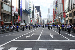 before parade (TokyoNowadays) Tags: parade olympic olympics tokyo japan police policeofficer road street medalist medalists rioolympics rio olympicgames