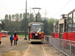 Konstal 105Na, #338, Tramwaje lskie (transport131) Tags: tram tramwaj bdzin t kzk gop konstal 105na zajezdnia depot