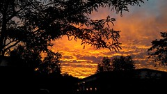 Sunset at Coleshill (Manoo Mistry) Tags: sunset birmingham coleshill colour orange midlands birminghampostandmail sky thrilling clouds light dramatic silhouette