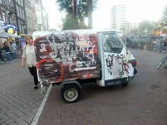 Painted Apecar (Quetzalcoatl002) Tags: vehicle car piaggioape bestelwagen graffity graffiti tiny messy street streetshots amsterdam