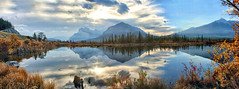 Vermillion Lakes, Banff National Park, Alberta, Canada - ICE(5)942-951 (photos by Bob V) Tags: panorama mountainpanorama mountains rockies rockymountains canadianrockies vermillionlake vermillionlakes banff banffpark banffnationalpark banffalberta banffalbertacanada reflection reflectiononwater