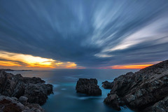 Cape Bonavista Sunset - Newfoundland (Explore - Best Position #9 - Octobber 6, 2016) (Brian Krouskie) Tags: sunset capebonavista newfoundland sky rocks ocean sea longexposure outdoor landscape seascape nikond800 nikon173528 water worck clouds