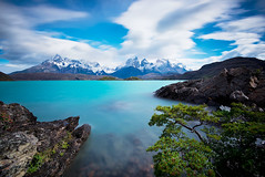 Out Of This World (danielpivnick) Tags: chile patagonia lake snow southamerica nature clouds landscape lago wind turquoise rocky windy andes torresdelpaine lagopehoe torresdelpainenationalpark turquoisewater lenticularclouds lastorres cuernosdelpaine nikond800