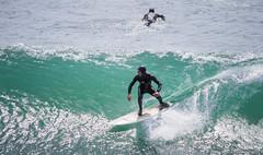 Surfin (mingsquared) Tags: ocean california sea santacruz beach beautiful landscape nikon scenery surf waves surfing nikond3200 55200mm d3200