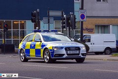 Audi A4 avant Estate Glasgow 2013  ( SF13 CYY ) (seifracing) Tags: road uk light rescue ford scotland focus traffic britain transport scottish police emergency audi polizei spotting services policia recovery strathclyde polis polizia ecosse policie seifracing