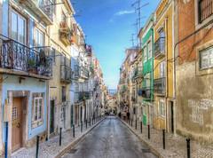 Lisbon Street (szeke) Tags: street city urban portugal buildings lisboa lisbon hdr 2012 noiseware photomatix canonefs1022 imagenomic canon7d topazremask ononeperfecteffects