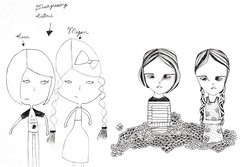drawing girls 15. (pretty little thieves) Tags: art illustration kidsart drawinggirls