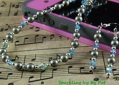 Green Blue Necklace Earrings (SparklingIvy) Tags: silver crystals swarovski swarovskicrystals swarovskipearls