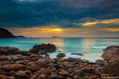 Zenith Beach (ibbyhusseini) Tags: summer sky seascape color beach beautiful composition sunrise canon landscape photography rocks soft waves snapshot smooth sydney creative lee moment capture portstephens photooftheday zenithbeach leefilters bestoftheday sundancenewcastle