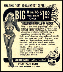Hollywood Models On Parade Film Fan Club (Harald Haefker) Tags: film promotion club vintage magazine ads print advertising fan pub publicidad adult reclame ad models retro parade anuncio advertisement nostalgia hollywood 1950s advert 1956 werbung 8mm 16mm publicit magazin reklame affiche publicitario pubblicit on rclame pubblicizzazione