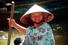 (G Alarkon) Tags: woman vietnamese row vietnam mekongriver