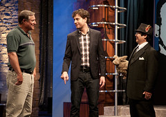 (L-R) Challenger Gary Robbins, Host Zach Selwyn, Immortalizer Dr. Takeshi Yamada, and Seara (sea rabbit) as seen in the episode 8 (season final) of the season 1, Immortalized, the AMC new unscripted television series. (Takeshi Yamada's IMMORTALIZED (Part 2)) Tags: sculpture newyork celebrity art japan brooklyn painting coneyisland star artist dragon dinosaur famous georgebush gothic victorian buddhism taxidermy charlesdarwin vogue cnn osaka oddities mermaid amc salvadordali benjaminfranklin billclinton billgates mythology renaissance abrahamlincoln ronaldreagan sideshow freaks jackalope globalwarming waltdisney cabinetofcuriosities kunstkammer pablopicasso steampunk wunderkammer damienhirst cryptozoology alberteinstein barackobama rushlimbaugh gaff stevenspielberg leonardodavinci fijimermaid brianposehn cryptid michaelbloomberg strangeanimals seanhannity joebiden immortalized michaelsavage wildlifeconservation takeshiyamada museumofworldwonders zachselwyn roguetaxidermy searabbit lauraingraham immortalizer marklevin paulrhymer catherinecoan spacealienskull stephenhawkings