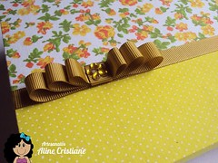 Caixa Forrada Amarela (Line Artesanatos) Tags: caixa caixademadeira caixaforrada patchworkembutido