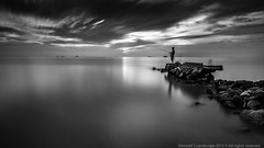Fishing [Explored 15th April 2013] (MOG'S) Tags: longexposure sunset seascape beach fishing fisherman malaysia klang jeram selangor bigstopper