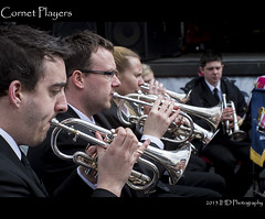 Cornet Players (IHD Photography) Tags: thread lens manchester screw pentax band m42 manual brass cornet k01 mamiyasekor55mmf14