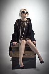 Ra (forayinto35mm) Tags: woman girl fashion lady studio waiting sony luggage carlzeiss sonyalpha sonya77 girlonsuitcases