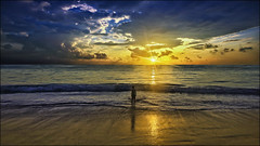 punta cana beach sunrise - dominican republic (Dan Anderson.) Tags: ocean vacation sky sun beach yellow clouds sunrise gold golden waves dominicanrepublic puntacana blinkagain