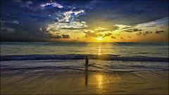 punta cana beach sunrise - dominican republic (Dan Anderson.) Tags: ocean vacation sky sun beach yellow clouds sunrise gold golden waves dominicanrepublic puntacana blinkagain