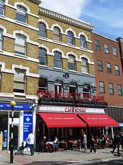 Cafe Rouge, Hampstead, NW3 (Ewan-M) Tags: england london restaurants dome hampstead highstreet cafes birdinhand nw3 frenchfood thedome caferouge rgl formerpub londonboroughofcamden thebirdinhand hampsteadhighstreet formerbar needsrglreview whitbreadpub tragusrestaurant caferougerestaurants