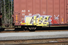 Lies (Espestosis) Tags: graffiti panel lies etc boxcar graff freight fr8 aok coaltrain etccrew