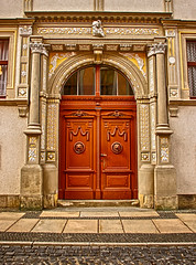 (#2.025) door, Grlitz, Untermarkt 8 (unicorn 81) Tags: door building history architecture germany geotagged deutschland town europe grlitz goerlitz sachsen stadt architektur portal altstadt tr hdr goerlitzzgorzelec europastadt