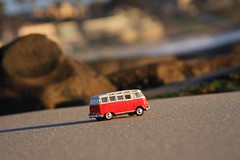 Have Love - Will Travel (Gwen Deanne) Tags: california bus vw toy spring mini lajolla southerncalifornia goldenhour diecast windansea 2013 sooc 40d