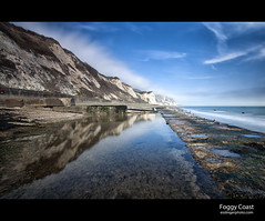 Dover Coast (esslingerphoto.com) Tags: ocean uk longexposure greatbritain blue sea england sky white seascape reflection beach wet water clouds canon reflections photography eos coast photo europe long exposure shot britain south great cliffs single gb 5d coastline dover mkii esslinger esslingerphotocom esslingerphoto