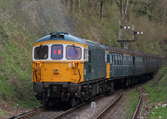 Pushing on (Treflyn) Tags: electric train pull four br diesel 33 4 rail railway loco class line marks multiple emu push 423 british locomotive gala alton towards watercress bagpipe unit crompton vep 3417 331 medstead midhants 33109 brcw captainbillsmithrnr propels gordonpettitt