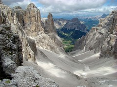 View from the Sella Massif. (AlbOst) Tags: italy mountains scree dolomites valgardena valdifassa colfosco sellamassif sellamountaingroup