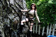You keep me hanging on (padme9990) Tags: doll dolls tomb lara croft raider tonner