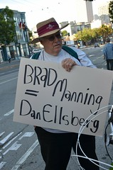 Protest at San Francisco Pride to reinstate Bradley Manning as SF Pride Parade Grand Marshal (Steve Rhodes) Tags: protest pride lgbt activism thecastro castrodistrict sfpride sanfranciscopride lgbtq wikileaks freebrad sfshame freebradleymanning bradleymanning uploaded:by=flickrmobile flickriosapp:filter=nofilter