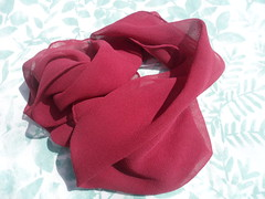 Lac on Silk Chiffon (milkweed seed) Tags: pink rose scarf silk lac naturaldye plantdye