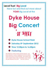 Dyke House concert flyer Sept 2012 (Big Local) Tags: poster concert flyer event invitation posters leaflet publicity invite flyers leaflets dykehouse biglocal localtrust
