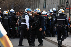 1er Mai - 'May Day' Anti-Capitalist March 2013; Montreal, QC (Shane B. Murphy - Photographer) Tags: city riot media day quebec montreal protest may photojournalism police kettle mai premiere capitalism anti manifestation 1er spvm repression nationale p6 clac emeute sspvm