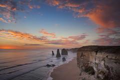 The Twelve Apostles (Leighton Wallis) Tags: sunset beach rocks waves dusk australia victoria cliffs stack vic greatoceanroad twelveapostles 12apostles portcampbellnationalpark