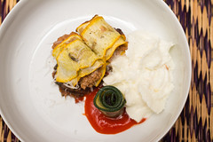 Beef-stuffed courgette with pecorino at Colorova (LostNCheeseland) Tags: food paris lunch appetizer savory courgette colorova