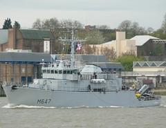 FS L'Aigle M647 (1) @ Galllions Reach 04-05-13 (AJBC_1) Tags: uk england london boat ship unitedkingdom military navy vessel riverthames warship minesweeper eastlondon gallionsreach mcv northwoolwich newham frenchnavy navalvessel minehunter m647 fslaigle ajc dlrblog ajc