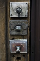 Old Style Tenement Door Bells (theimagebusiness) Tags: life street old city out scotland edinburgh day apartment capital photographers scottish disused ringer doorbell tenement bellpull edinburghtenement commonstair theimagebusiness