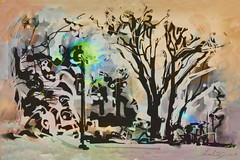 The Street Lamp in Snow (flynryon) Tags: trees inspiration painterly art texture mike mobile digital painting landscape movement woods media earth dream surreal line canvas brushes kansas layers abstraction pocket angular ryon fingerpainted iphone artstudio universityofkansas brushstroke emulate fingerpainter iphoneart fingerpaintedit flynryon ipaintings iamda
