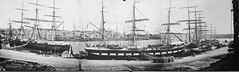 Panorama view of Circular Quay (Australian National Maritime Museum on The Commons) Tags: panorama boats triptych sydney charles circularquay wharf sydneyharbour percy pickering 1871 wharves jamesbarnet charlespercypickering